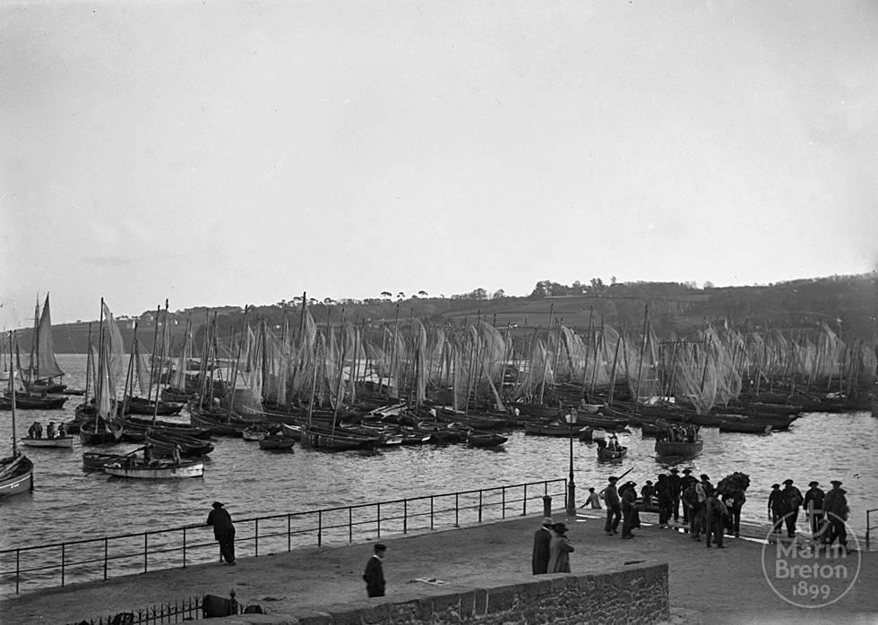 Le port du Rosmeur à Douarnenez (1910)